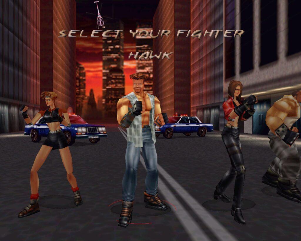 Fighting Force выбор персонажа NOLZA.RU