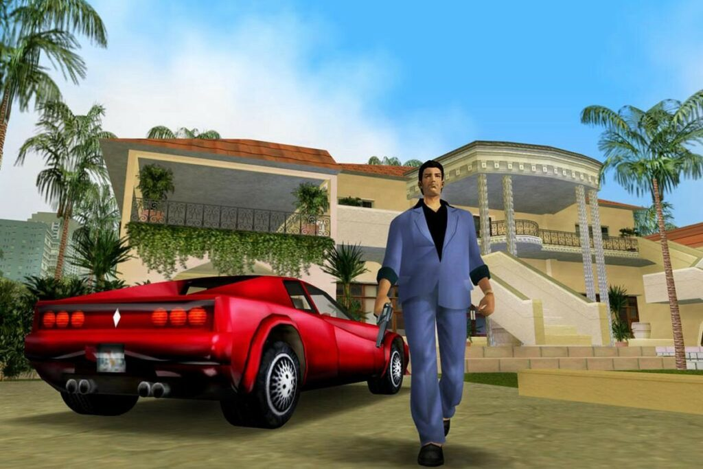 GTA Vice city - это про красивые тачки и большие деньги