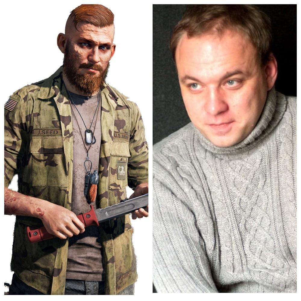 Иакова Сида на русский язык озвучил Денис Беспалый в игре Far Cry 5